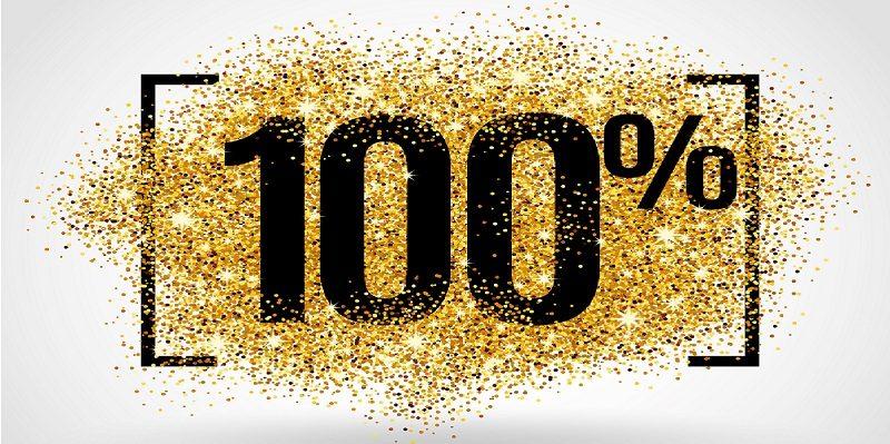 Celebrating 100% attendance